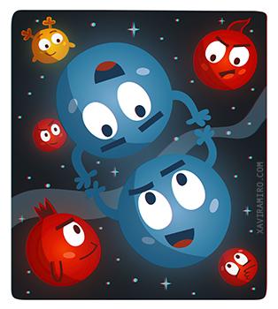 """3D Illustration """"Como dos lunas llenas"""""""