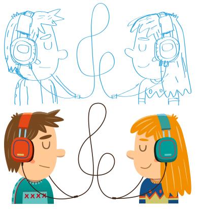 Sketch vs Final Art