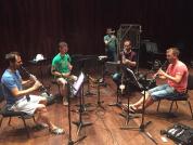 Barcelona Clarinet Players i el percussionista Ferran Carceller