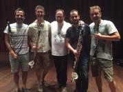 Barcelona Clarinet Players i Oriol Ripoll de Jocs al Segon.